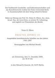fructus operis iii - Fachbereich Geschichts - Freie Universität Berlin