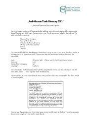 "Arab-German Trade Directory 2011"" German Trade ... - Ghorfa"