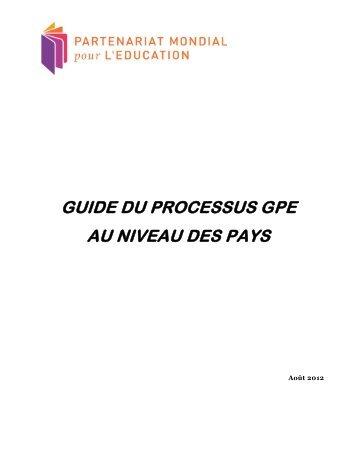 Guide du processus au niveau des pays - Global Partnership for ...