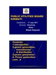 PUBLIC UTILITIES BOARD KIRIBATI
