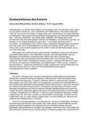 Existenzialismus des Extrems - Gerd Koenen