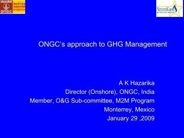 ONGC's approach to GHG Management System - Global Methane ...