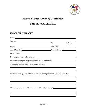 Minutes Mayor's Youth Advisory Commission October 21 ...