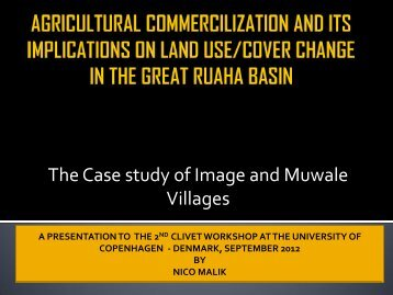 agricultural commercilization and its implications on land use ... - Geus