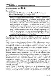 Ingrid Birkmann Im Gespräch - Ein Interview mit Hannelise ...