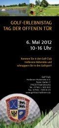 finden Sie alle Programmpunkte für den Tag! - Golf-Club Heilbronn ...