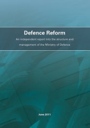 defence reform 2011 - Gov.uk