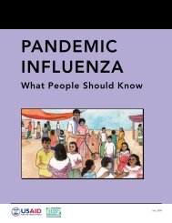 Pandemic Influenza_What People Should Know - FHI 360 Center for ...