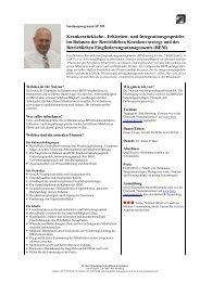 Krankenrückkehr-, Fehlzeiten- und Integrationsgespräche im ...