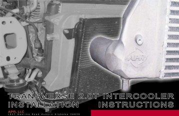 TRANSVERSE 2.0T INTERCOOLER INSTALLATION ... - APR