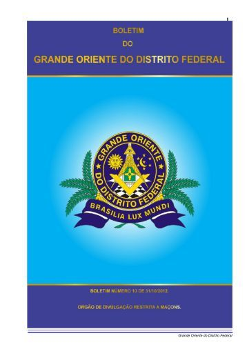 BOLETIM SETEMBRO 2012 - Grande Oriente do Distrito Federal