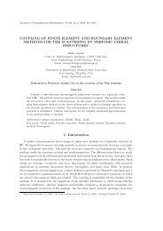 COUPLING OF FINITE ELEMENT AND BOUNDARY ELEMENT ...