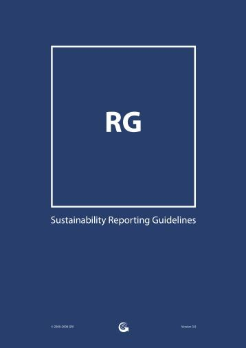 Sustainability Reporting Guidelines RG - Global Reporting Initiative