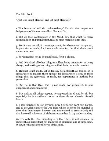 hermes trismegistus, book 5 - Holy Order of the Golden Dawn Canada