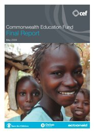 Commonwealth Education Fund: Final report - Global Partnership ...