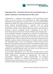 Download Methodenpapier - Geschichtswerkstatt Europa