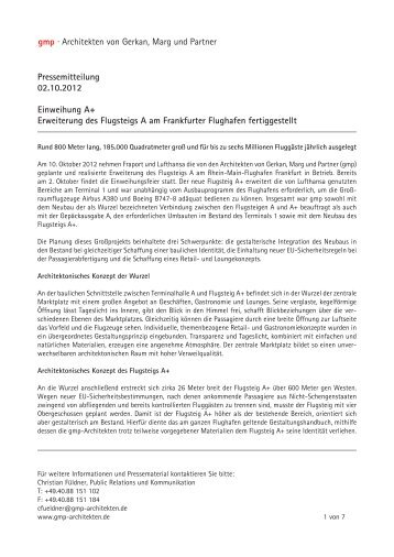 gmp · Architekten von Gerkan, Marg und Partner Pressemitteilung ...
