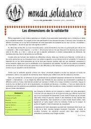 Les dimensions de la solidarité - Solidarité Mondiale contre la Faim