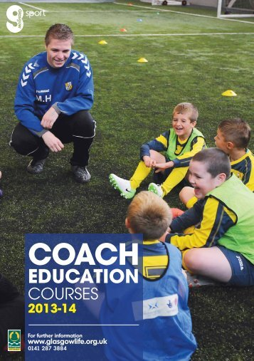 Coach Education Diary 2013-14 - Glasgow Life