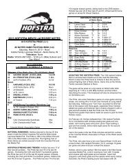 2013 HOFSTRA MEN'S LACROSSE NOTES - GoHofstra.com