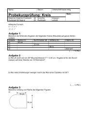 Probekurzprüfung: Kreis - Gegenschatz.net