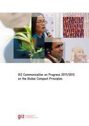 GIZ Communication on Progress 2011/2012 on the Global Compact ...
