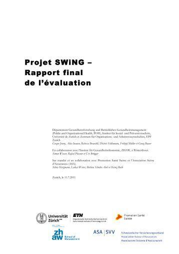 Projet SWiNG – Rapport final de l'évaluation
