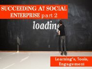 SUCCEEDING AT SOCIAL ENTERPRISE part 2 - Philanthropy New ...