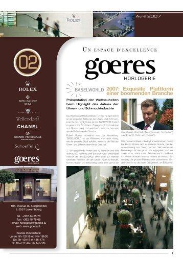 newsletter_2 - Goeres Horlogerie
