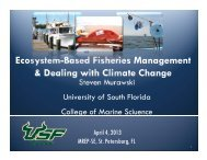 Ecosystem Based Management & Dealing with Climate Change