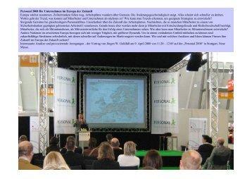 Personal 2008 Ihr Unternehmen im Europa der Zukunft Europa ...