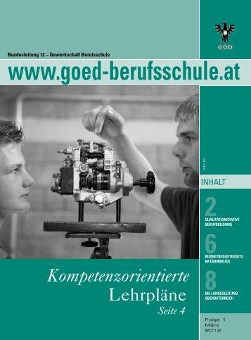 Kompetenzorientierte - Bundessektion 12 Berufsschullehrer