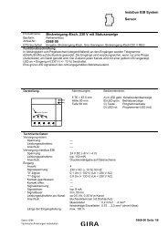instabus EIB System Sensor Binäreingang 4fach, 230 V mit ... - Gira