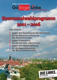 Download Kommunalwahlprogramm 2011 - DIE LINKE. Goettingen