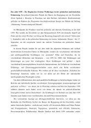 Projektbericht herunterladen - Geschichtswerkstatt Europa