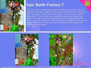 Epic Battle Fantasy 3 - Get Mobile game