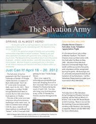 The Salvation Army Volunteer News