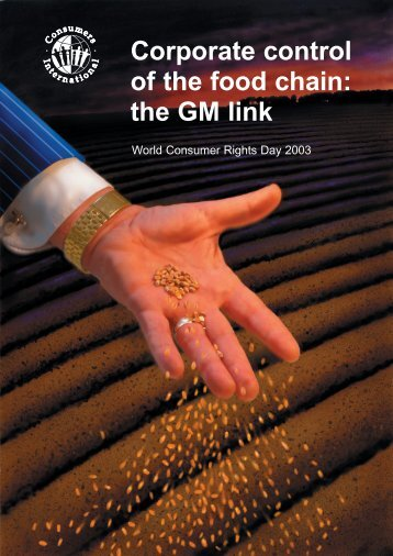 Corporate control of the food chain - GM Free Ireland