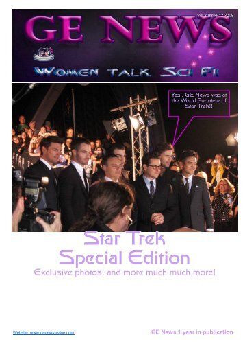 Star Trek Special Edition - GE NEWS