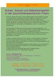 Scham, Schuld und Selbstwertgefühl in der psychotherapeutischen ...