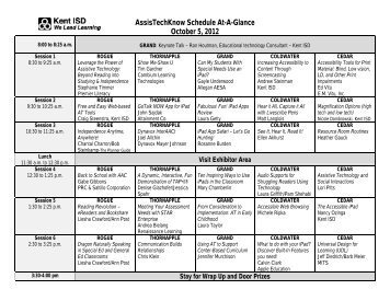 AssisTechKnow Schedule At-A-Glance October 5, 2012
