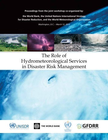 The Role of Hydrometeorological Services in Disaster Risk ... - GFDRR
