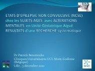 Etat d'epilepsie non convulsive chez les sujets - Geronto-Normandie