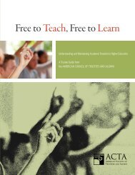 Free to Teach, Free to Learn - The American Council of Trustees ...