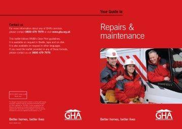 Repairs & maintenance - Glasgow Housing Association