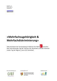 «Mehrfachzugehörigkeit & Mehrfachdiskriminierung» - Gladt