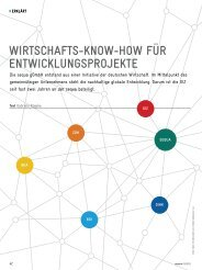 Akzente Wirtschafts-Know-How für Entwicklungsprojekte (1 ... - GIZ