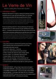 Le Verre de Vin Information 2010 - GoHospitality