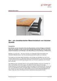 Medieninformation - Girsberger