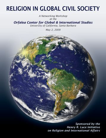 Religion in Global Civil Society: A Networking Workshop (May 2009)